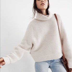 Madewell Side Button Knit Turtleneck Sweater